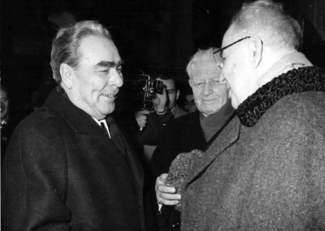 Leonid Brežněv a Gustáv Husák