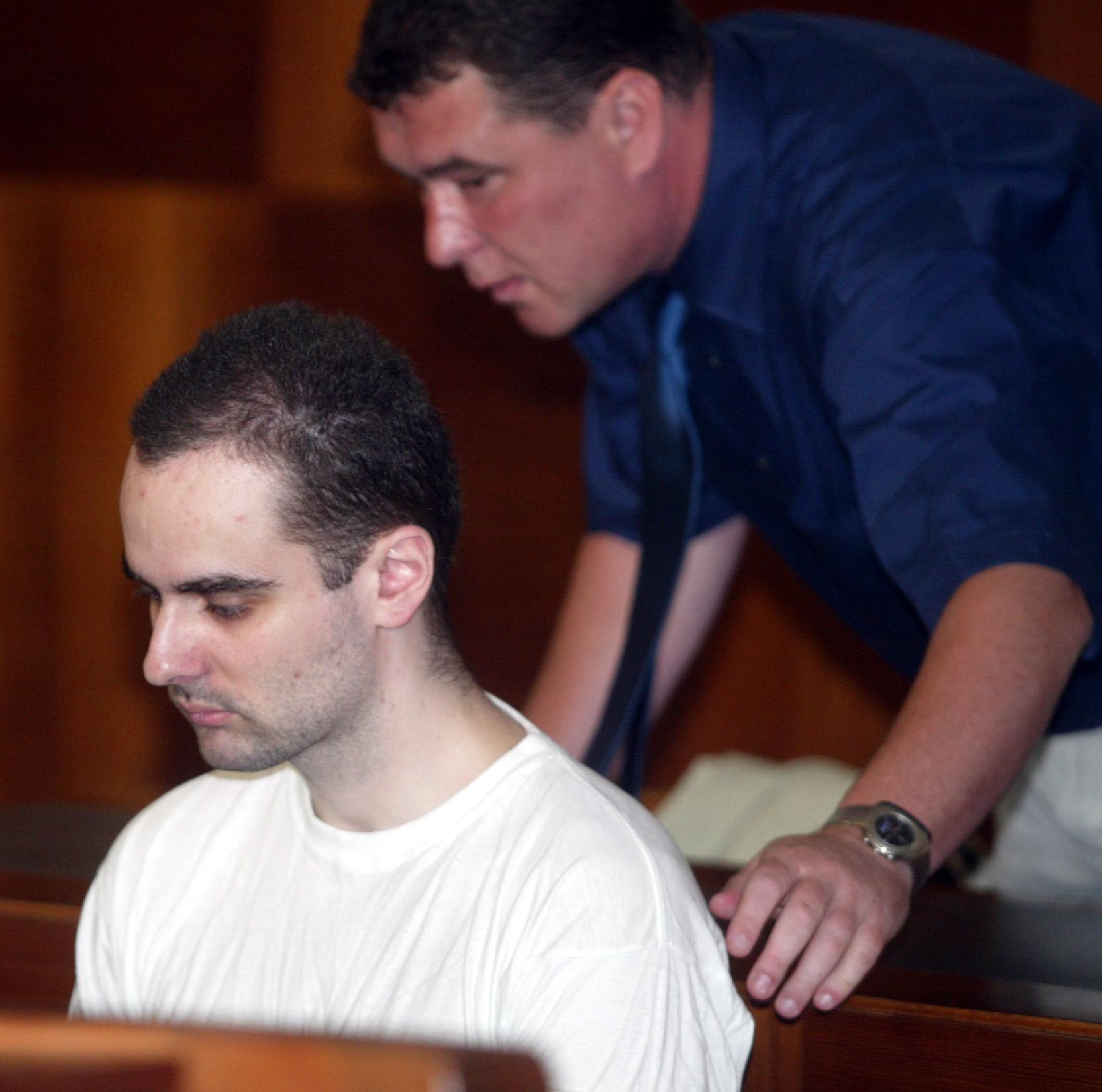 Viktor Kalivoda, tzv. Lesní vrah, při procesu