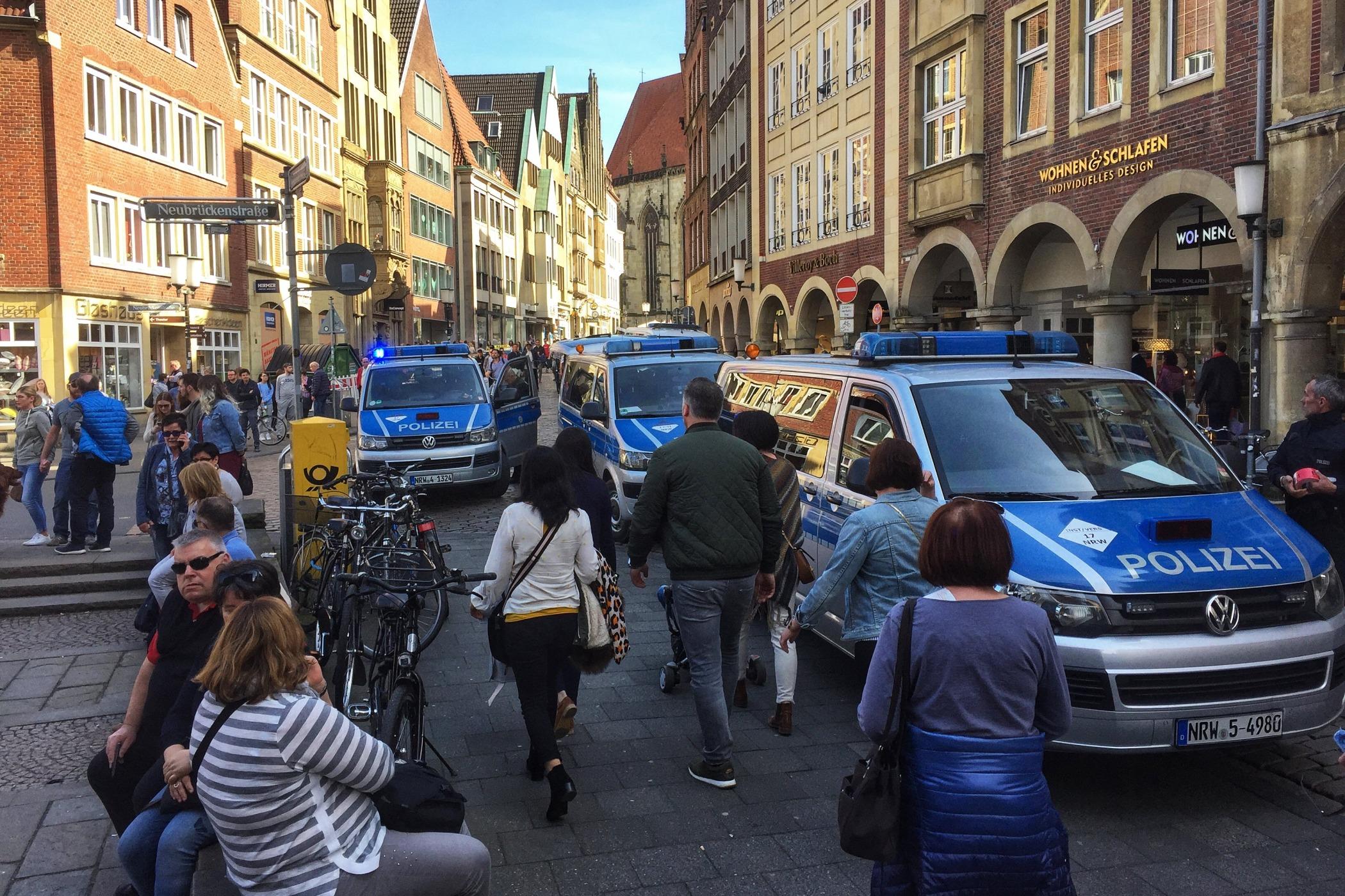 Policie v západoněmeckém Münsteru 7. dubna 2018