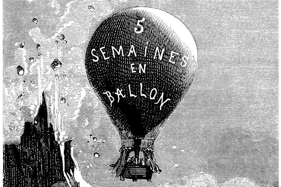 Pět neděl v balóně, první úspěšný román Julese Vernea