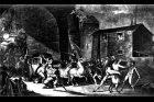 Zatčení královské rodiny ve Varennese (obraz Gustava Borda)