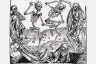 Tanec smrti (1493) inspirovaný morovou epidemií