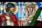 Svatý Václav a svatá Ludmila  v kostele svatého Cyrila a Metoděje v Olomouci