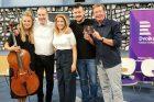 Štefan Margita, Michal Kindla, Iris Moris a Kateřina Kněžíková a Aleš Cibulka v Toboganu