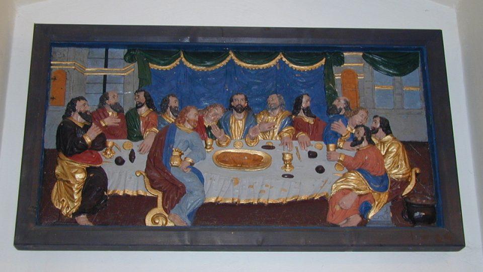 Poslední večeře Páně (v sakristii kostela v Hejnicích)