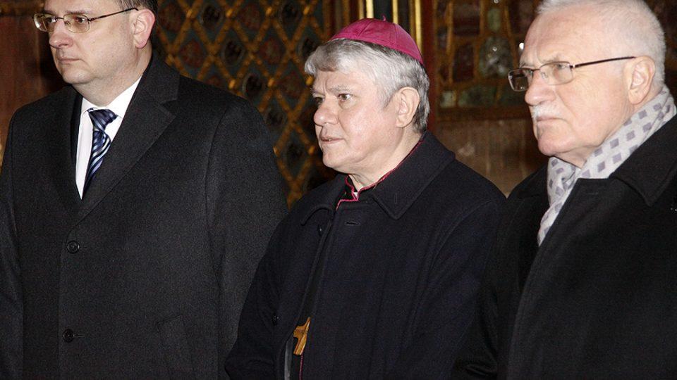 Rada katedrály sv. Víta: premiér Petr Nečas, Václav Malý, prezident ČR Václav Klaus
