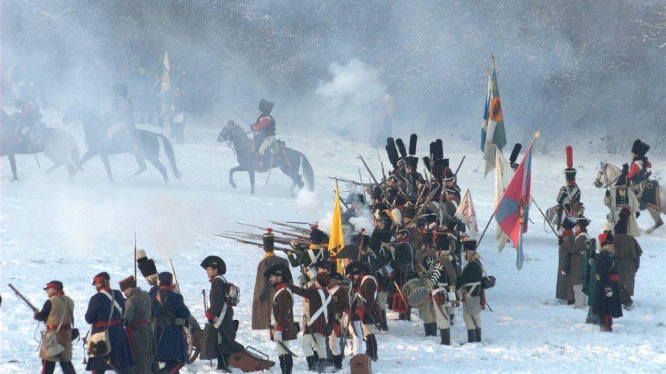 Bitva u Slavkova - pěchota v palebném postavení