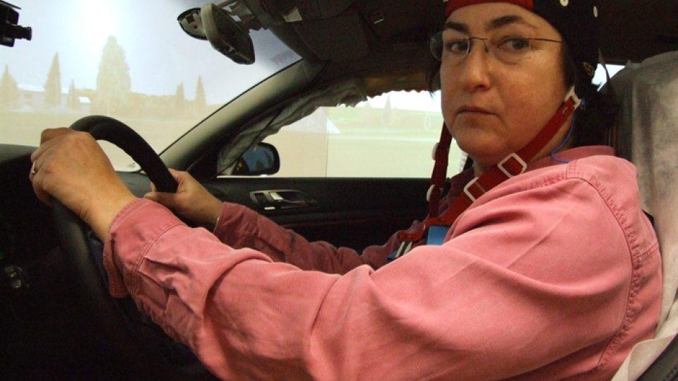 Poloha za volantem musí být co nejpohodlnější, aby řidička nebyla rušena od spánku