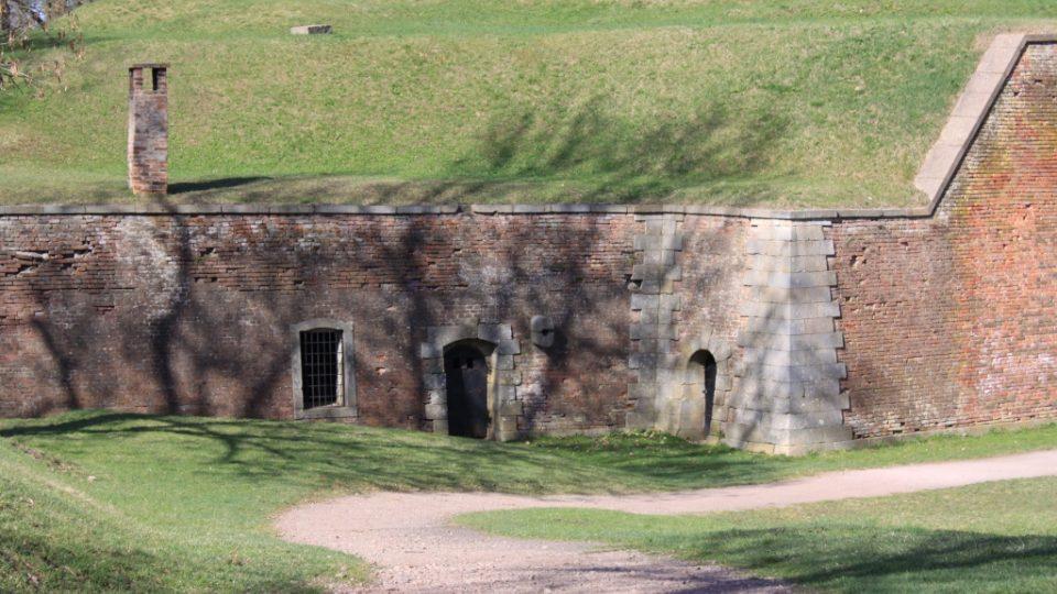 Zbytek hradebního areálu Ravelin