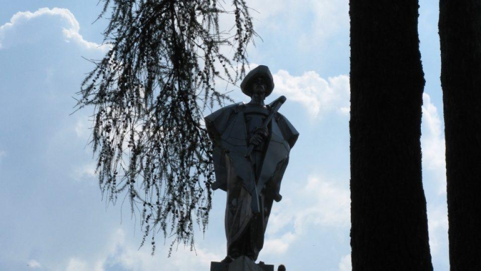 Zbojnický kapitán a jeho družina v obci Terchová