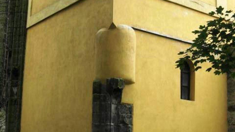 Panenský Týnec - nároží zvonice