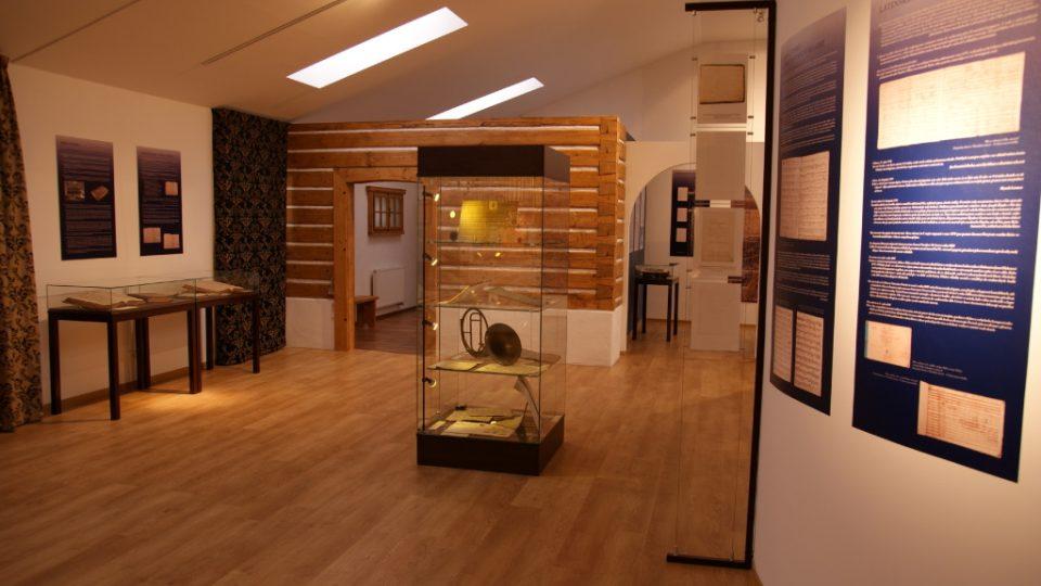 Podbrdské muzeum v Rožmitále pod Třemšínem - část expozice věnována J. J. Rybovi