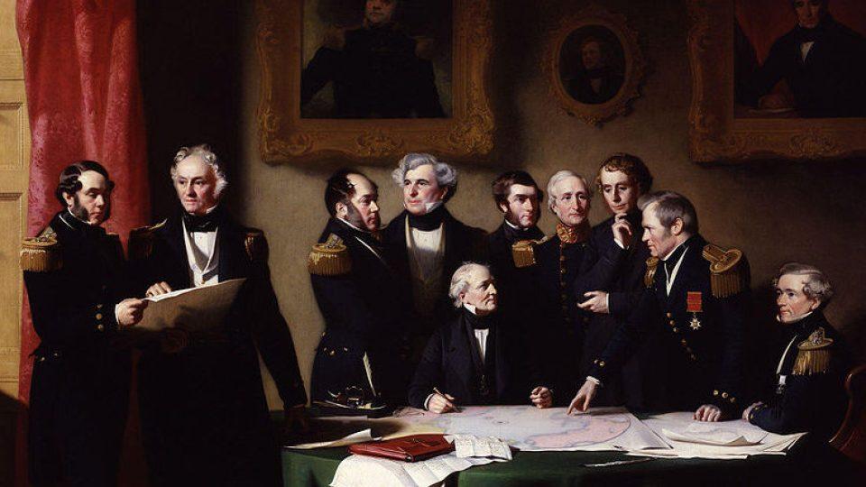 Plánování záchranné výpravy na pomoc Siru Johnu Franklinovi (1851)
