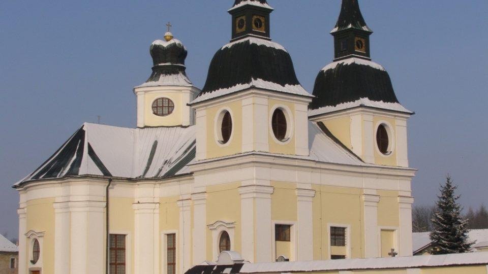 Kostel sv. Václava ve Zvoli - vánoční čas