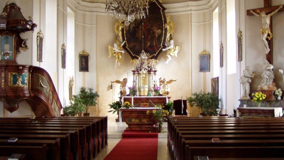 Kostel sv. Václava ve Zvoli - interiér