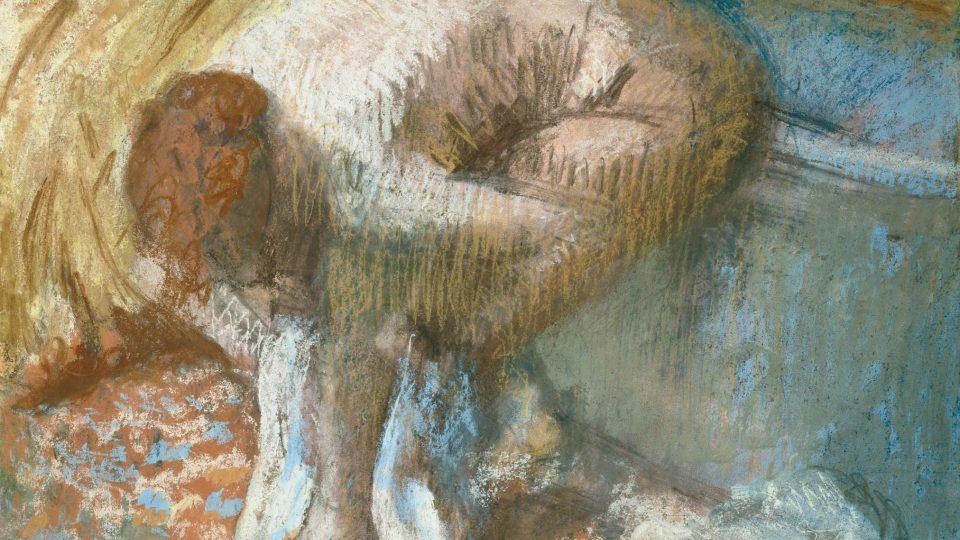 Edgar Degas:  Žena sušící si nohy po koupeli, asi 1893 /Kolekce Jana Krugiera