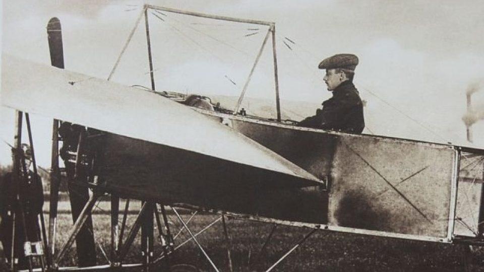 Jan Kašpar, první český aviatik.