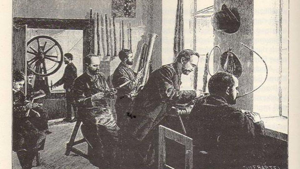 Rytci, konstruktéři a parní stroj v závodu V. F. Červeného