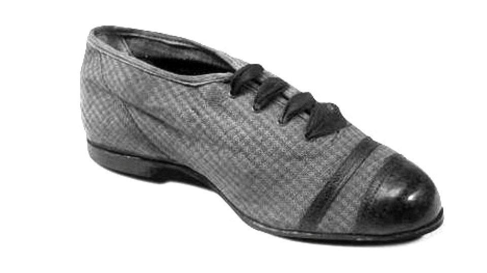Baťovka (plátěná bota s koženou podešví a elegantní koženou špičkou)