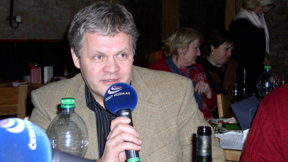 Předseda českého vinařského fondu Jaroslav Machovec byl také účastníkem show