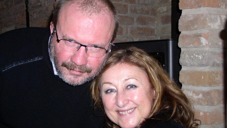Stanislav Moša s Halinou Pawlowskou