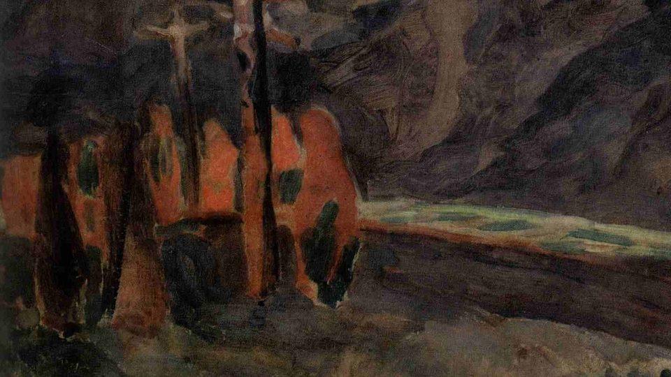 Jindřich Prucha: Ukřižování (1912)