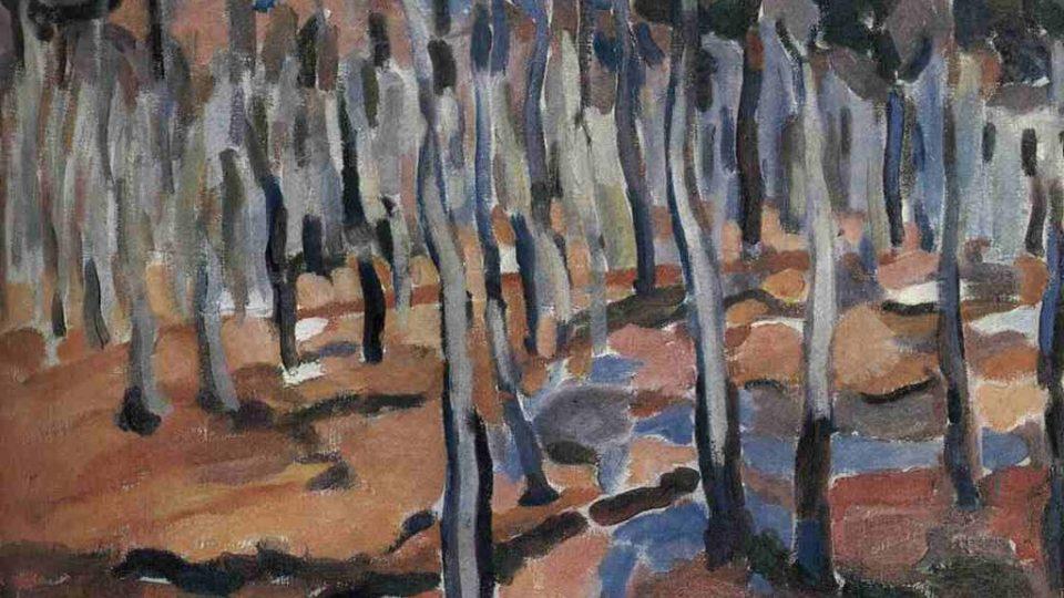Jindřich Prucha: Vnitřek bukového lesa (1911)