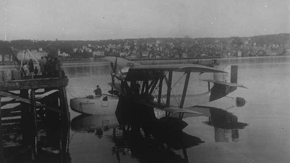 HydroplánLatham 47.02 v Tromsø krátce předtím, než se s ním Roald Amundsen vydal hledat trosečníky ze vzducholodi Italia. Nikdo ho už víckrát nespatřil