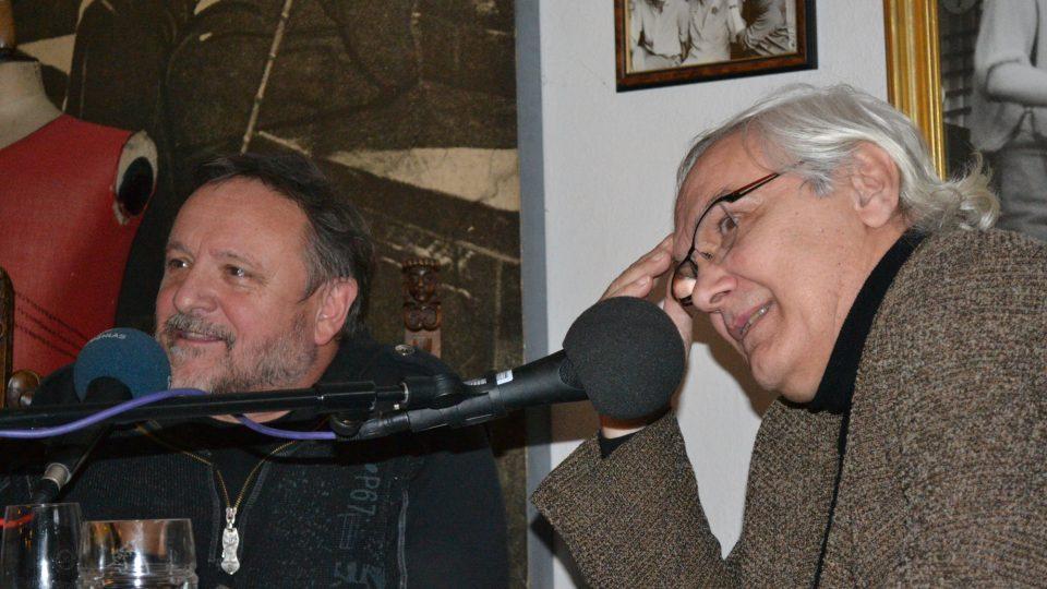Jaroslav Samson Lenk a Ondřej Suchý odpovídají na otázky z publika