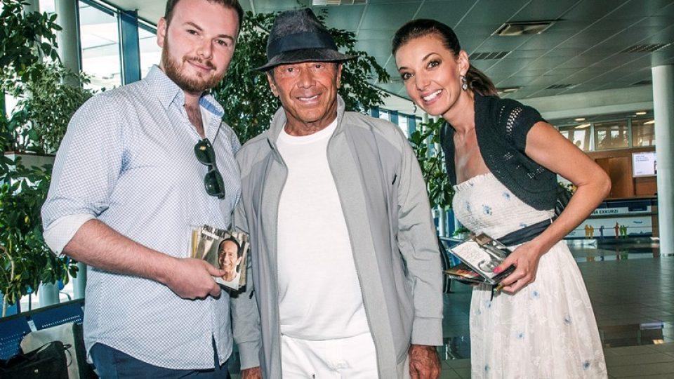 Dasha a Jan Smigmator ve společnosti hudební ikony Paula Anky