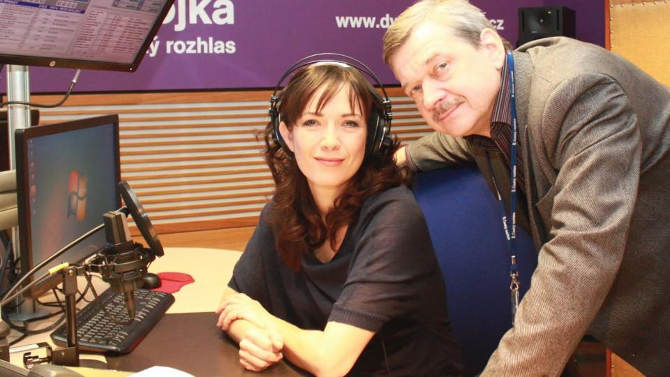 Tereza Kostková se šéfredaktorem Dvojky Miroslavem Dittrichem