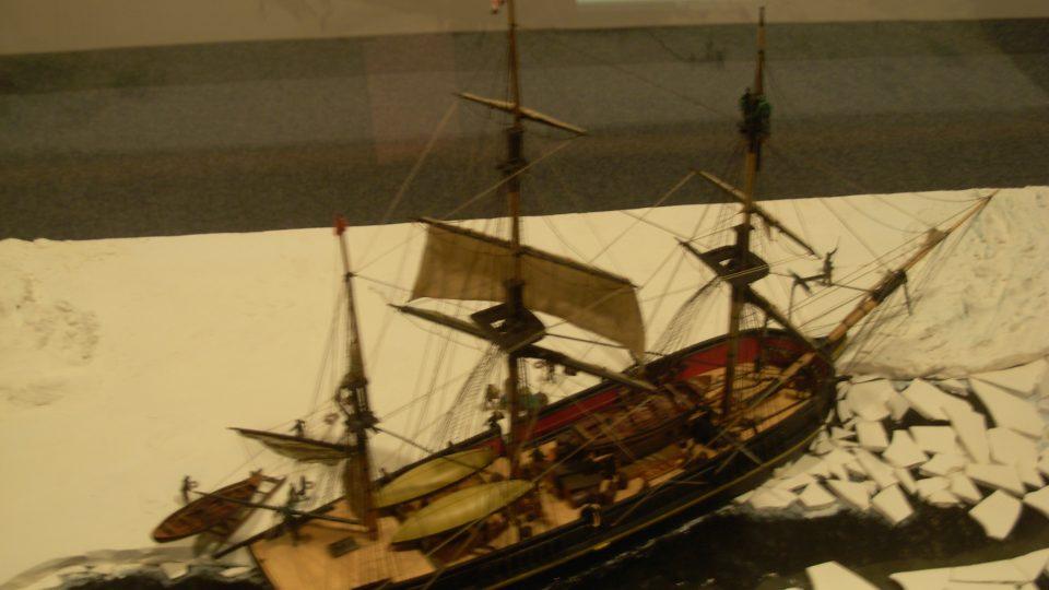 Model lodi Erebus Franklinovy výpravy