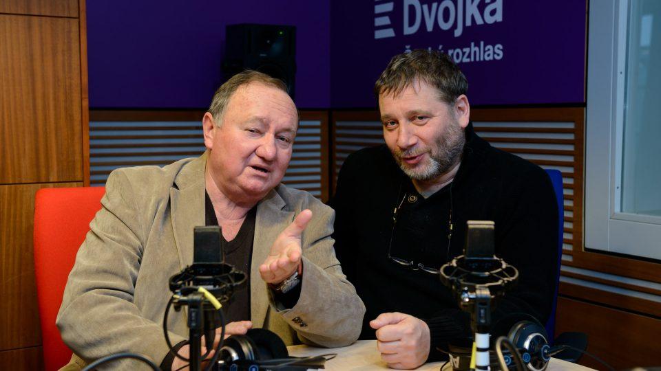 Vítězslav Jandák a Tomáš Töpfer moderátoři pořadu U Kalicha