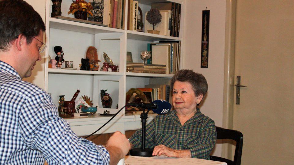 Aťka Janoušková s moderátorem Alešem Cibulkou