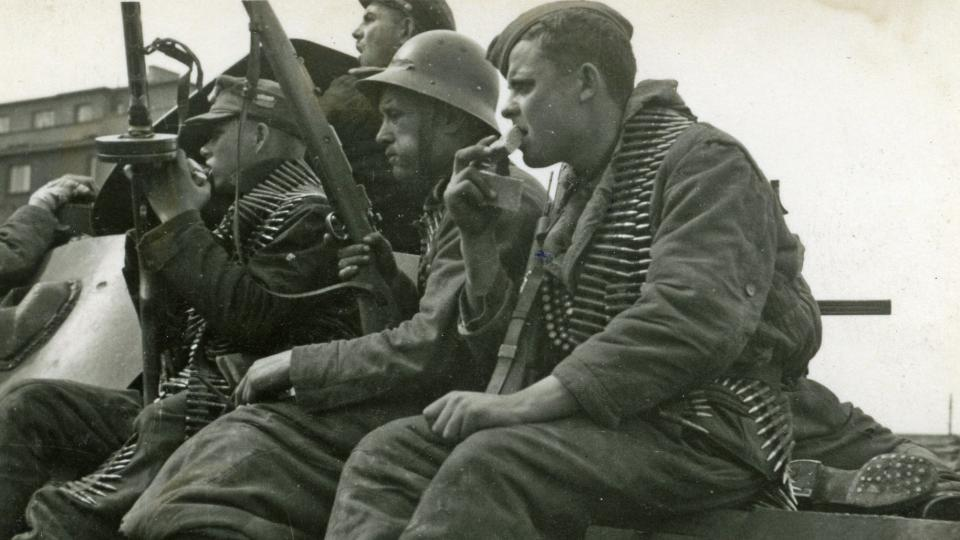 Historické záběry z konce 2. světové války