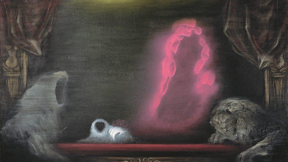 Toyen, Půlnoc, erbovní hodina (Minuit L´heure blasonnee), 1961