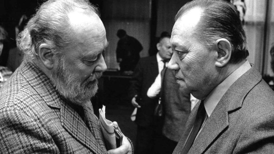 Lubor Tokoš a Rudolf Hrušínský-1988