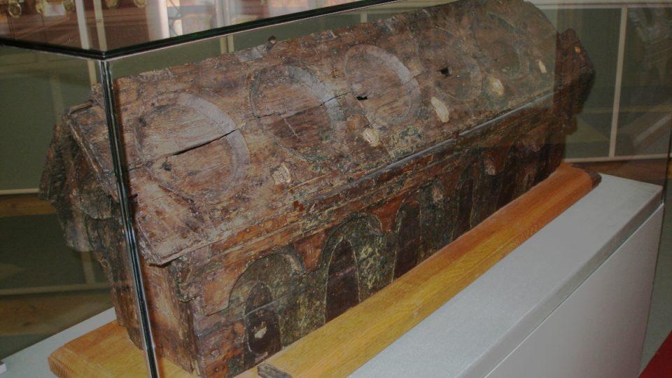 Původní schránka relikvíáře sv. Maura
