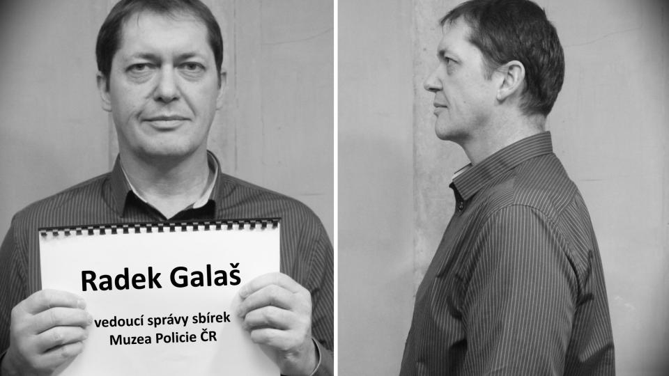 Radek Galaš (vedoucí správy sbírek Muzea Policie ČR)