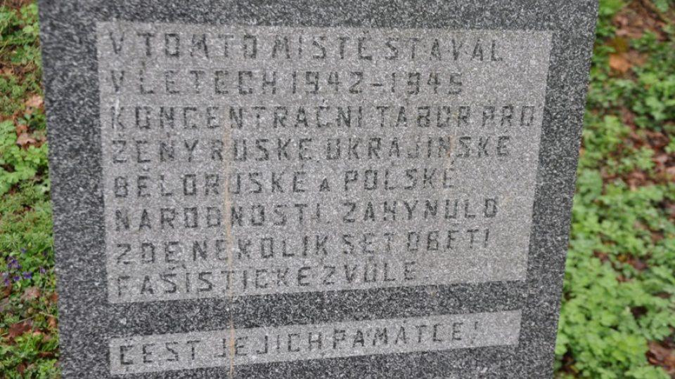 Zvěrstva, která se děla v dětřichovském porodním táboře, připomíná malý pomník