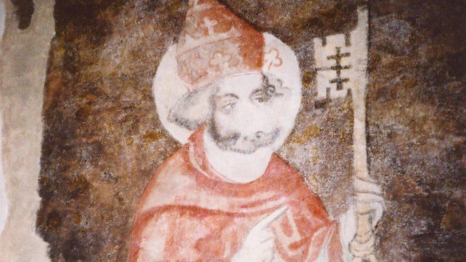 Nástěnná malba sv. Petr, mistr Theodorik