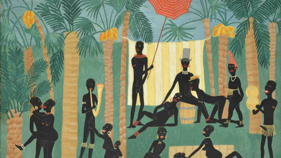 Toyen – Ráj černochů, olej, plátno, 49 x 69 cm, 1925