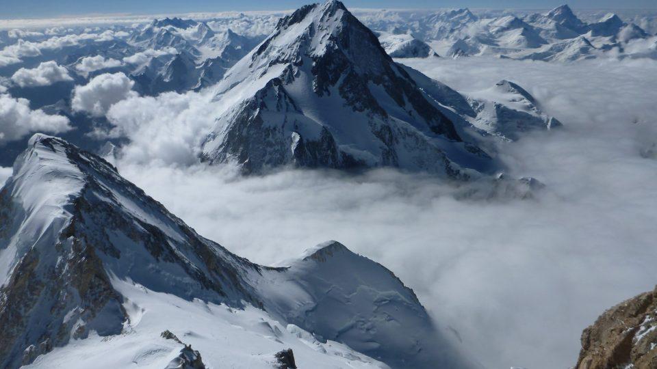 Pohled na vrchol SZ Gašerbrumu