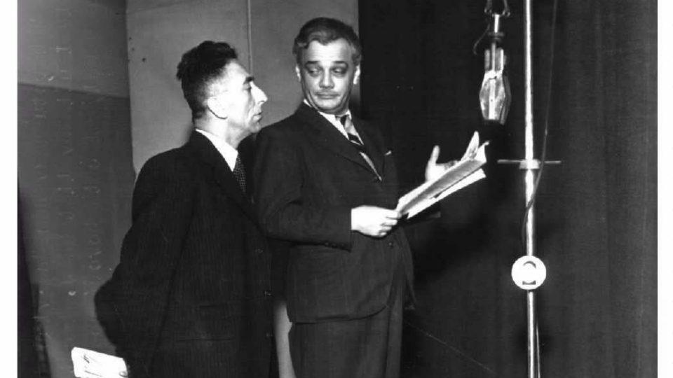 Jindřich Plachta a Jindřich Láznička - kabaret Na vlně dobré nálady-1941