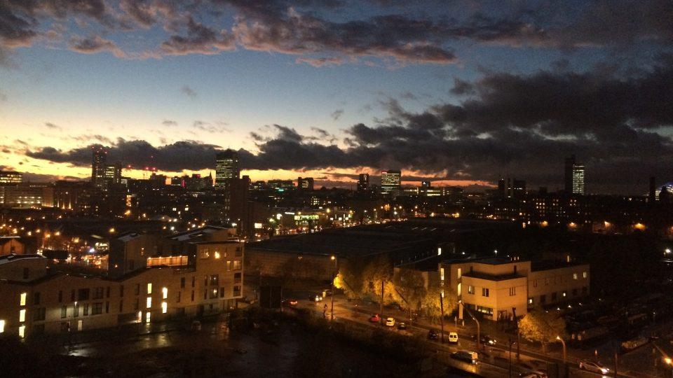 Výhled na Manchester