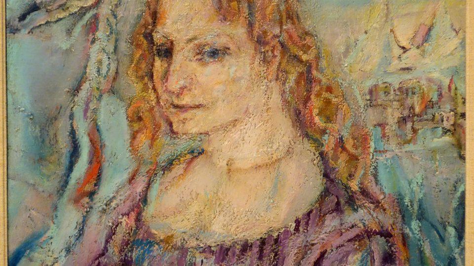 Oskar Kokoschka: Alma Mahler (olej na plátně, 1912)