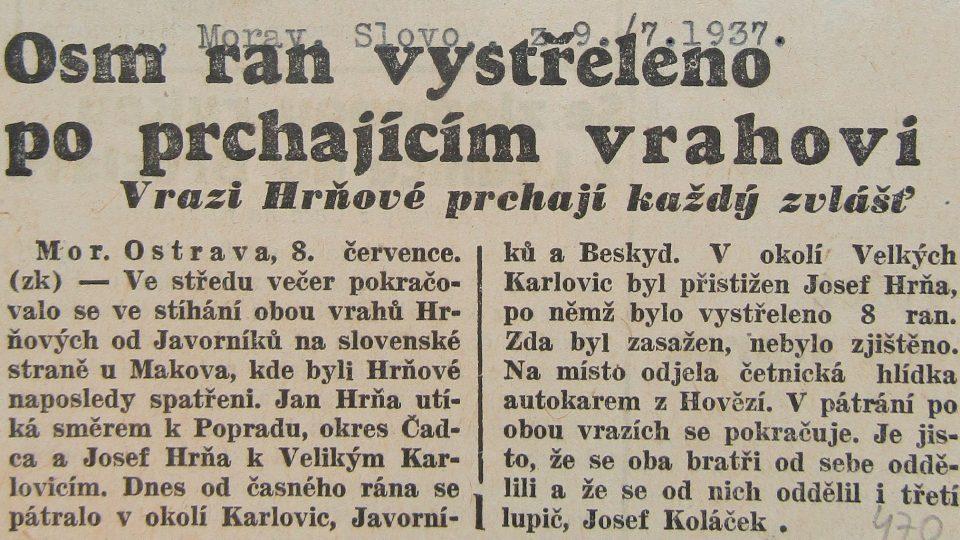 Moravské slovo 9. června 1937