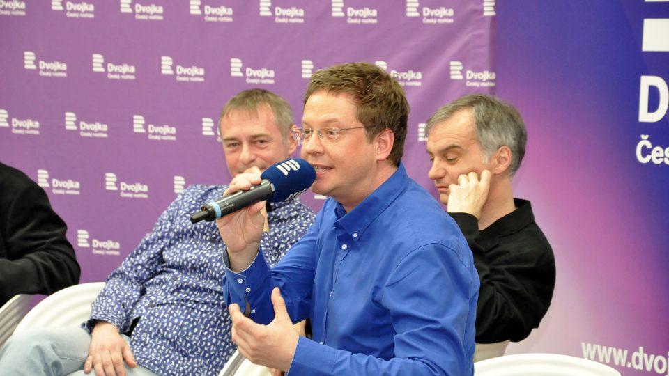 Aleš Cibulka s Vladimírem Dvořákem a Ivanem Trojanem