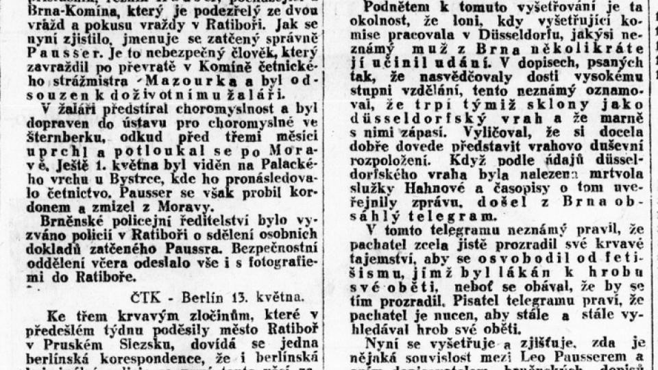 Lidové noviny z 13. května 1930