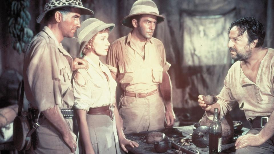 Doly krále Šalamouna (King Solomon's Mines, 1950): Richard Carlson, Hugo Haas, Deborah Kerr, Stewart Granger, Lowell Gilmore